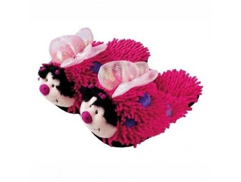Zapatillas Mariposa Niñas Pink Fuzzy Friends Slippers - Aroma Home