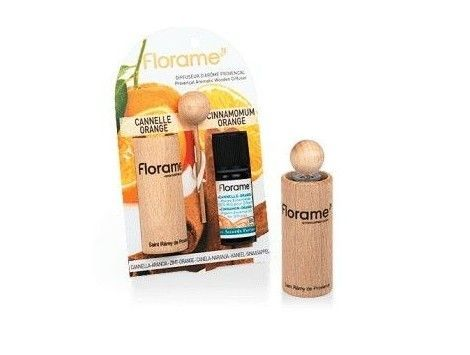 Difusor Coche Aceites Esenciales Canela Naranja Florame