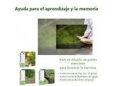Pack de aceites esenciales para potenciar el aprendizaje y la memoria