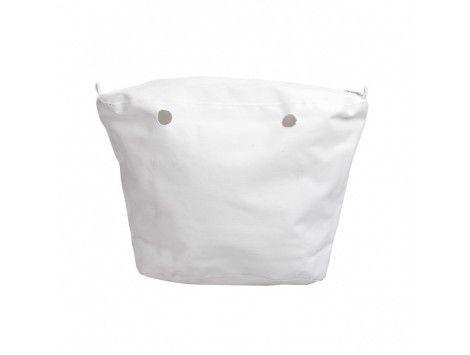 O Bag Canvas Bolso Classic Lona Blanca 008
