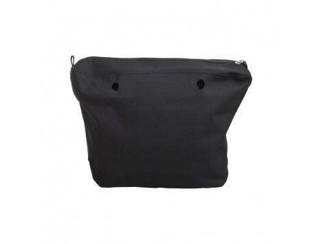 O Bag Canvas Bolso Classic Lona Negra 055