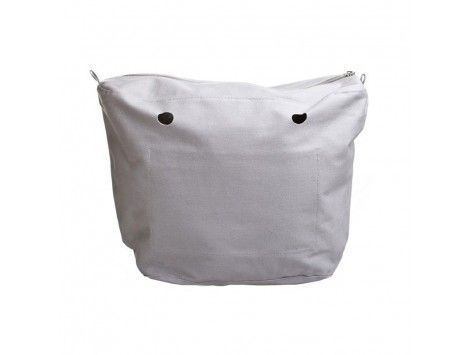 O Bag Canvas Bolso Classic Lona Blanca 008