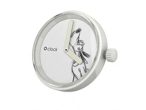 Esfera intercambiable para Reloj O Clock. Pluto aullando