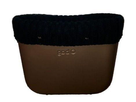 Borde lana O bag classic catenella negro