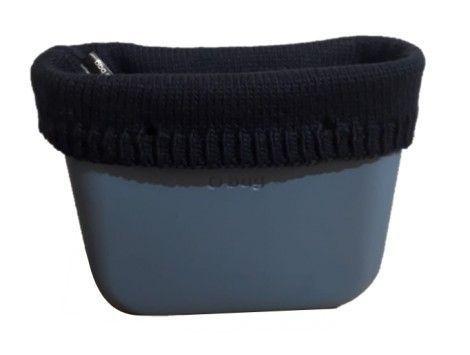 Borde lana peinada O bag mini azul