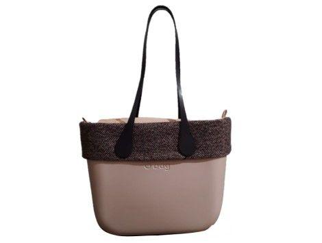 Borde lana O bag classic tejido tartan