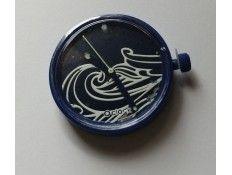 Esfera intercambiable para Reloj O Clock. Estampado Olas Azul
