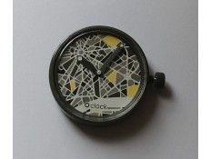Esfera intercambiable para Reloj O Clock. Estampado Mapa Gris