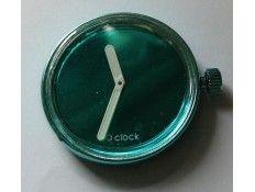 Esfera intercambiable para Reloj O Clock. Espejo. Turquesa