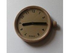 Esfera intercambiable para Reloj O Clock. Tono sobre Tono. Numeros .Beige